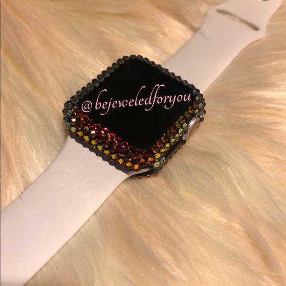 low priced 972f2 7488d Crystal Volcano Swarovski Apple Watch Cases NWT